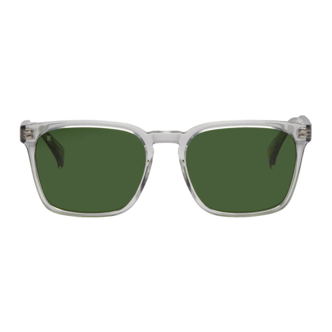 RAEN GREY TRANSPARENT PIERCE SUNGLASSES