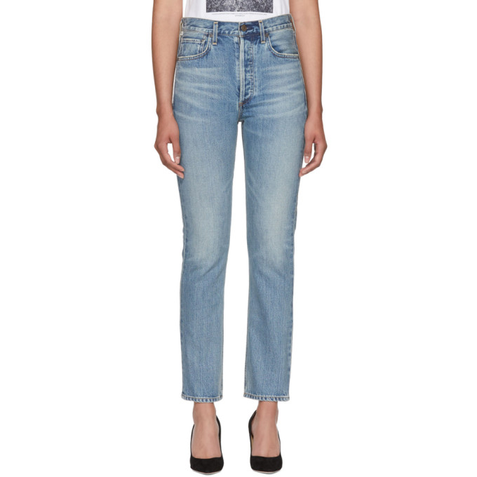 CITIZENS OF HUMANITY Charlotte High-Rise Straight-Leg Jeans in Barrow