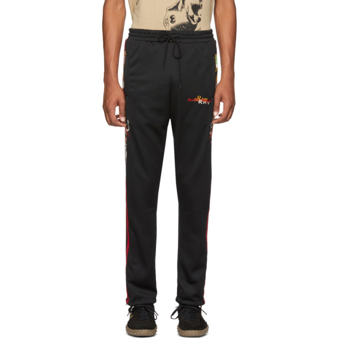 DOUBLET BLACK CHAOS EMBROIDERY TRACK PANTS