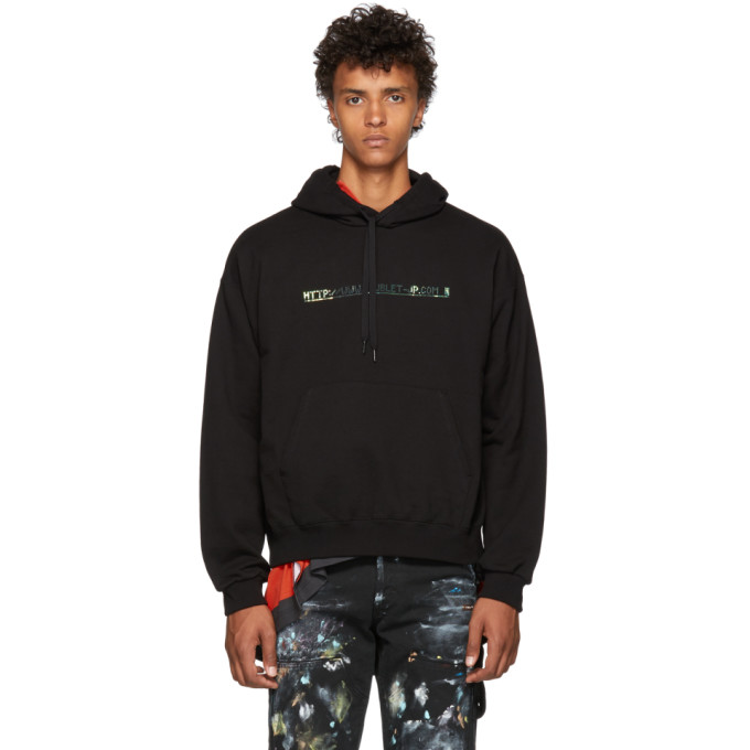 DOUBLET BLACK 404 SPANGLE EMBROIDERY HOODIE