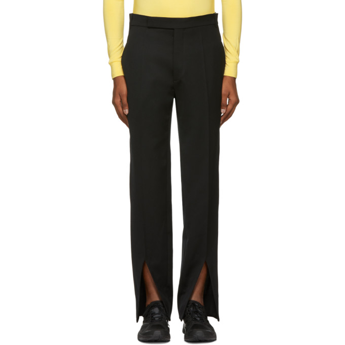 NAMACHEKO BLACK FRONT SPLIT TROUSERS