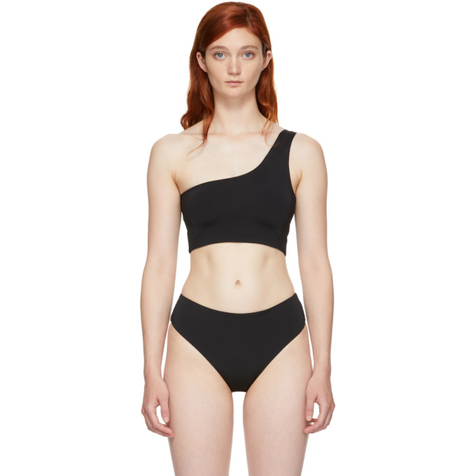 MYRASWIM Myraswim Black Ford Single-Shoulder Bikini Top