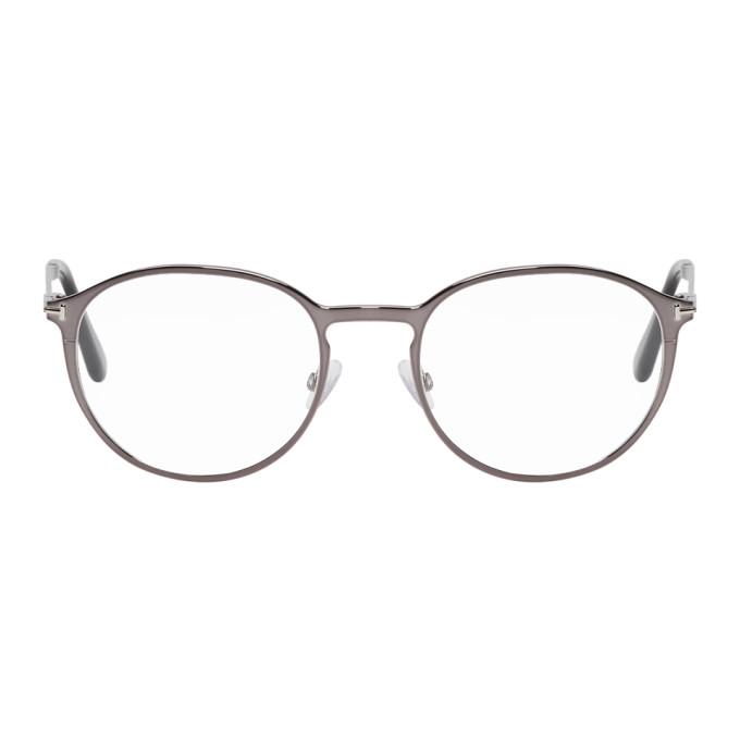 TOM FORD Gunmetal & Black Magnetic Clip-On FT5476 Glasses