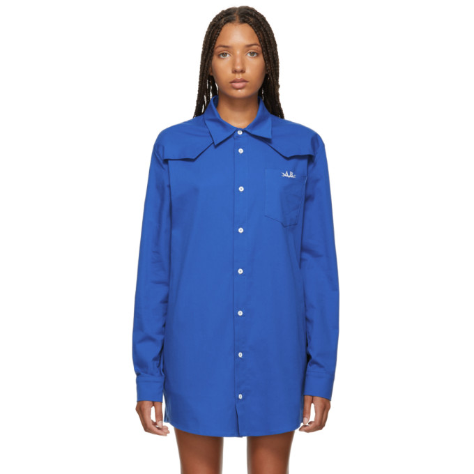 ANTON BELINSKIY Anton Belinskiy Blue Cotton Shirt