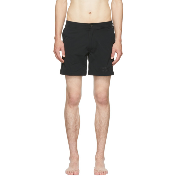 EVEREST ISLES BLACK DIVER 01 SWIM SHORTS
