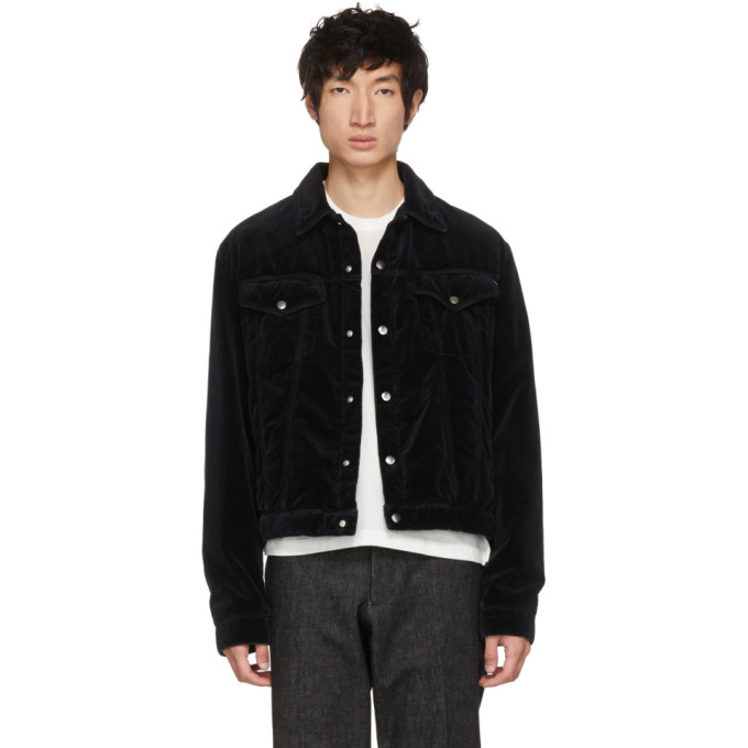 Black Washed Chord Luca Jacket by Mcq Alexander Mcqueen