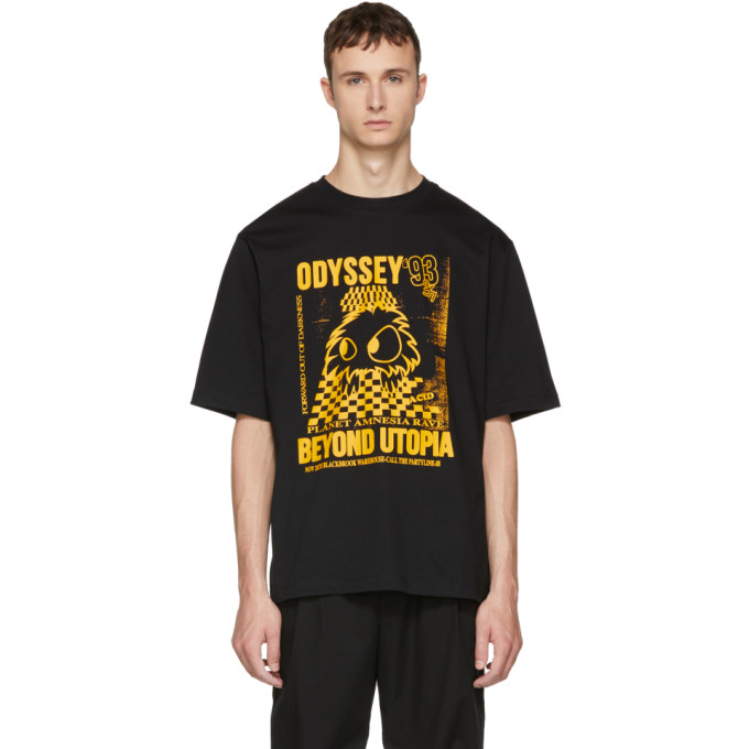 MCQ BY ALEXANDER MCQUEEN Black & Yellow 'Rave Monster' T-Shirt