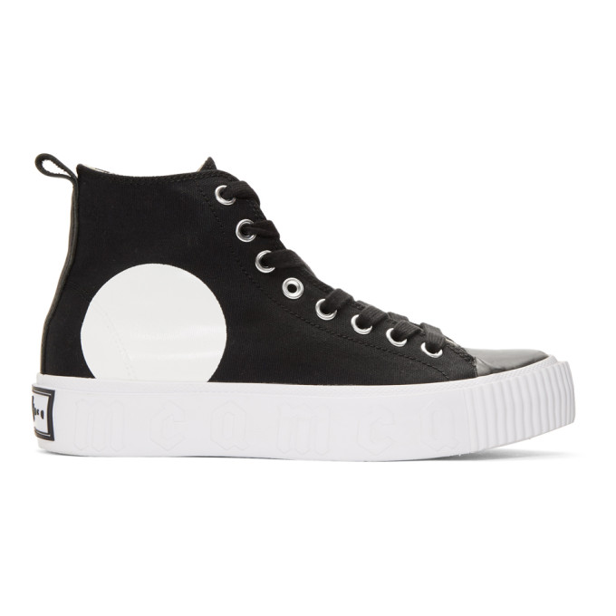 MCQ BY ALEXANDER MCQUEEN Black Plimsoll Platform Sneakers