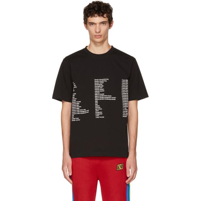 XANDER ZHOU Xander Zhou Black Jersey List T-Shirt