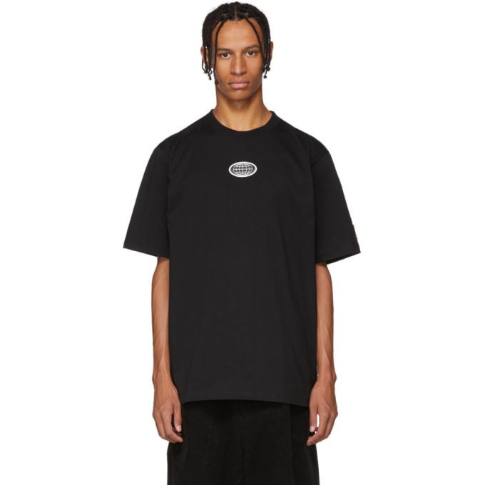 XANDER ZHOU Xander Zhou Black Jersey Chest Patch T-Shirt