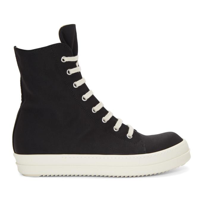 RICK OWENS DRKSHDW Hi-Top Sneakers in Black