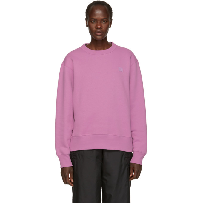 Acne Studios Purple Fairview Face Sweatshirt, Lilac Purpl