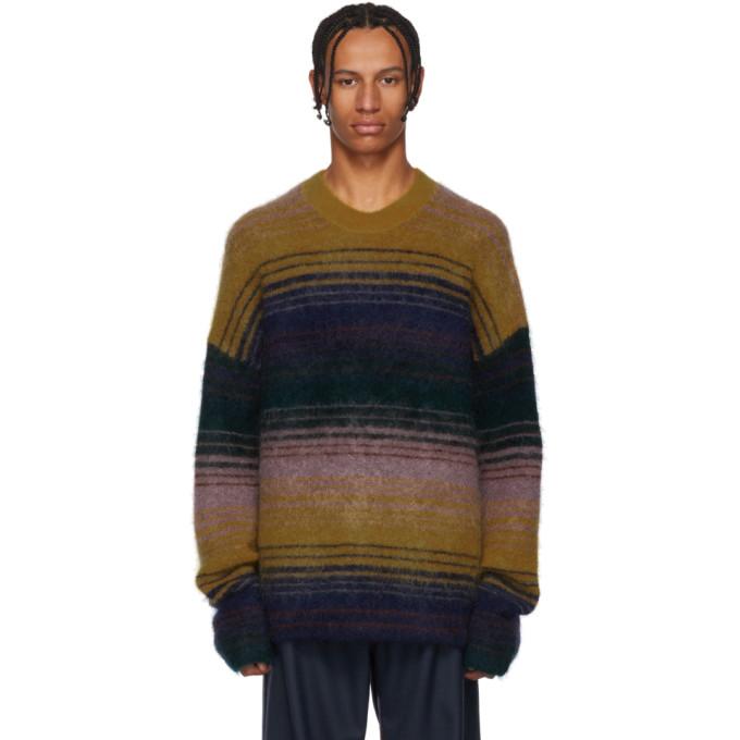 Nosti Striped Knitted Sweater - Multi in Mustard