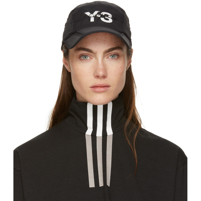 Y-3 Y-3 BLACK FOLDABLE CAP
