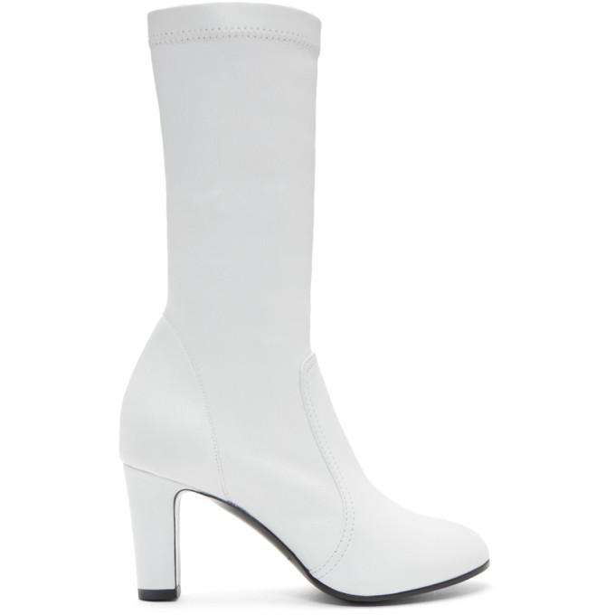 A_PLAN_APPLICATION A-Plan-Application White Low Stretch Boots