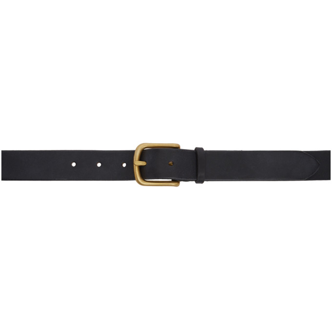 MAXIMUM HENRY BLACK AND GOLD WIDE STANDARD BELT