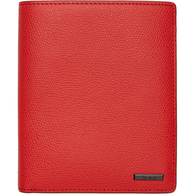 TUMI RED PROVINCE PASSPORT HOLDER