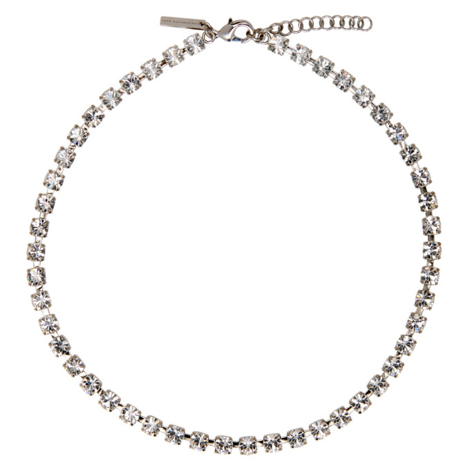 Christopher Kane Silver Cup Chain Choker, 9068 White