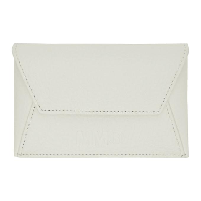 White Foldover Card Holder by Mm6 Maison Margiela