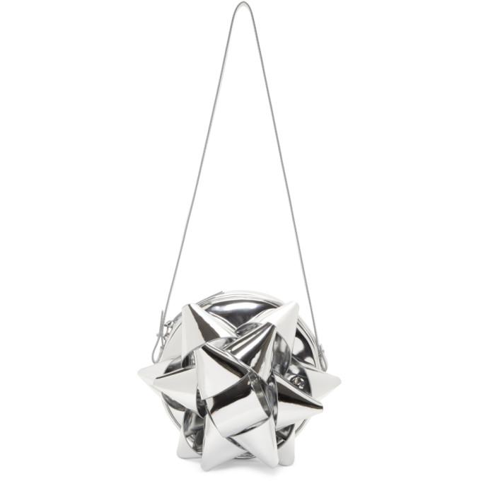 Bow Cross Body Bag in Metallic