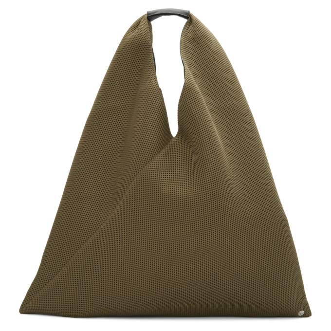 MM6 MAISON MARTIN MARGIELA BROWN TRIANGLE TOTE