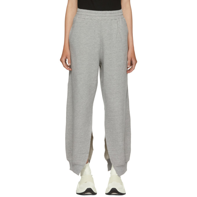 MM6 MAISON MARTIN MARGIELA GREY SLIT SWEATPANTS