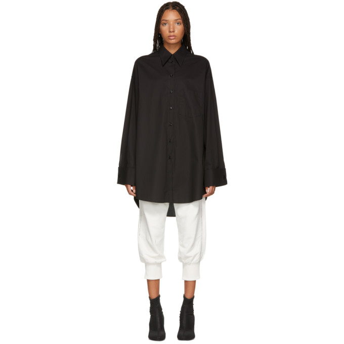 MM6 MAISON MARTIN MARGIELA BLACK LONG SHIRT