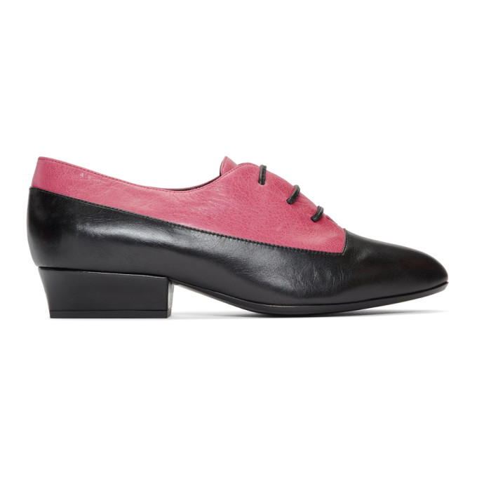Leather Colorblock Oxfords in 651 Pinkmul
