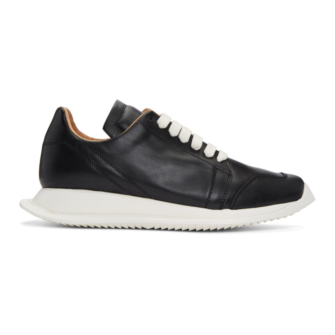 RICK OWENS BLACK OBLIQUE SNEAKERS