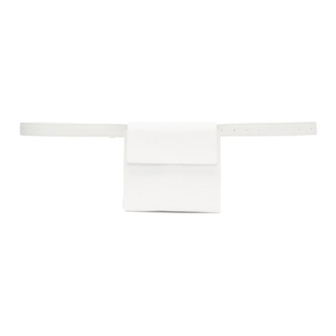 Jil Sander White Mini Belt Pouch in 113 White