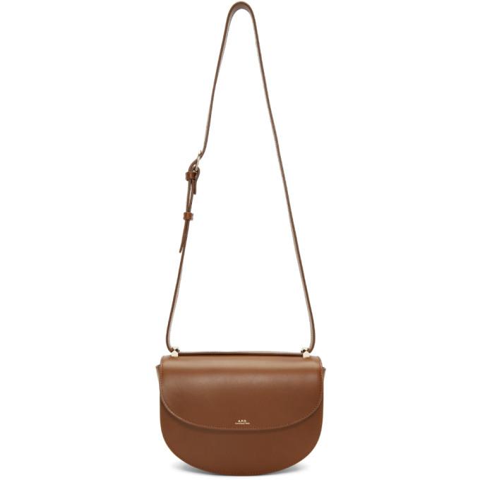 Brown Genève Flap Bag by A.P.C.
