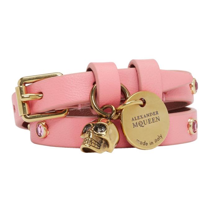 Alexander Mcqueen Charm Double Wrap Bracelet - Pink