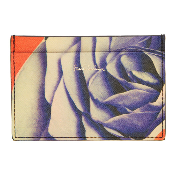 PAUL SMITH Rose Collage Card Holder in Pr Printed