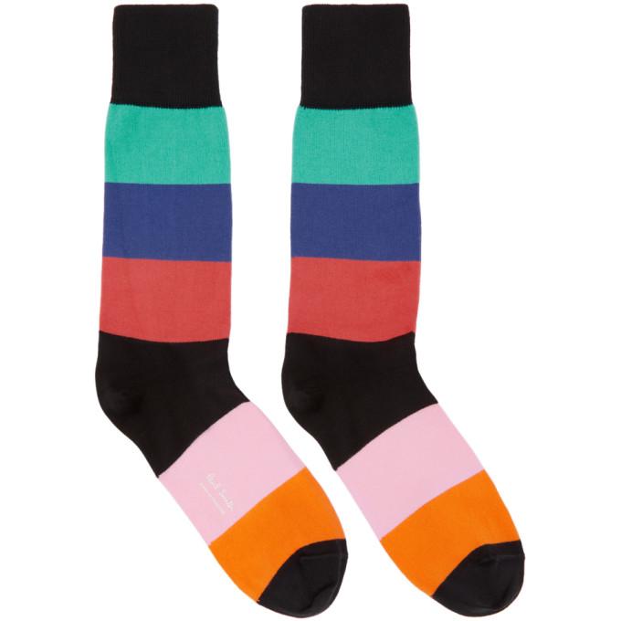 PAUL SMITH Multicolor Razzle Stripe Socks