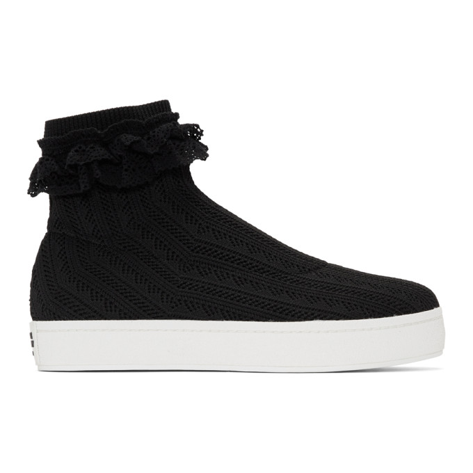 Opening Ceremony Leathers OPENING CEREMONY BLACK BOBBY LACE SNEAKERS