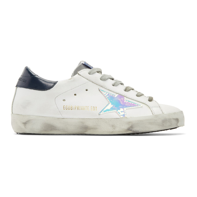 Ssense Exclusive White Leather Superstar Sneakers by Golden Goose
