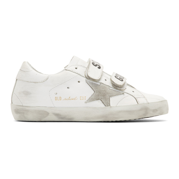 b3f12dfe44f6 Golden Goose Superstar Old School Low-Top Leather Trainers In White