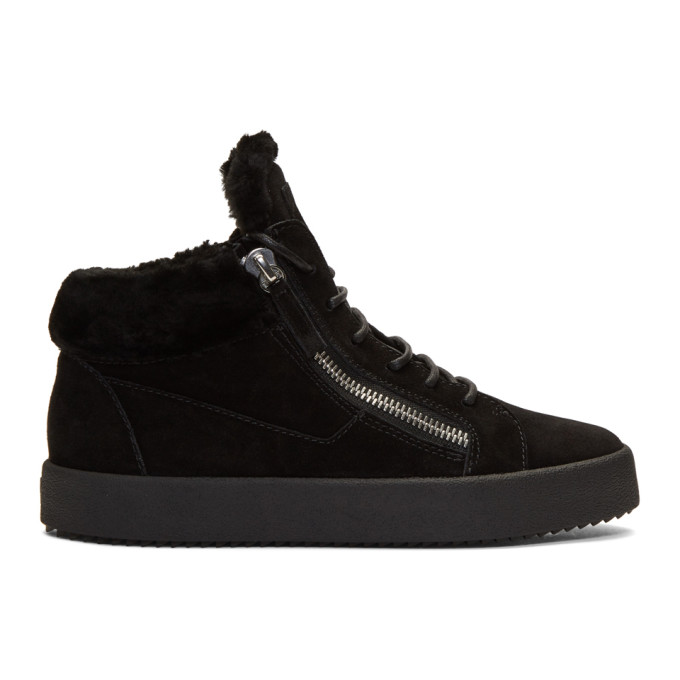 Black Sensory May High-Top Sneakers Giuseppe Zanotti