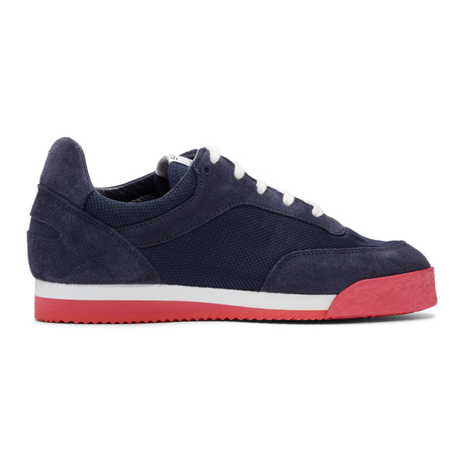 Comme Des Garçons Shirt NAVY & RED SPALWART EDITION PITCH SNEAKERS