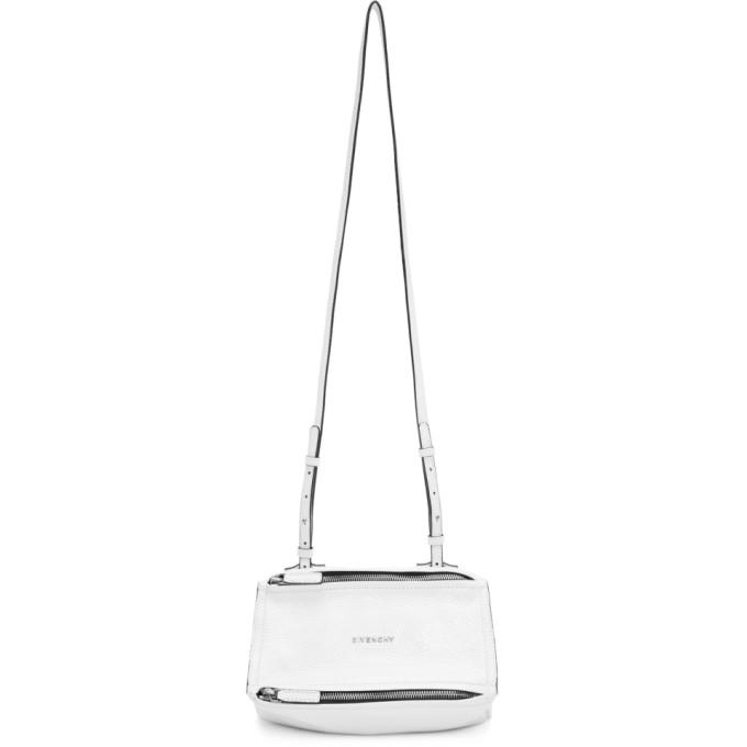 GIVENCHY White Mini Pandora Bag