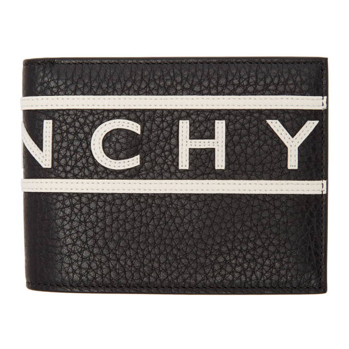 Mirrored Logo Trim Wallet in Black