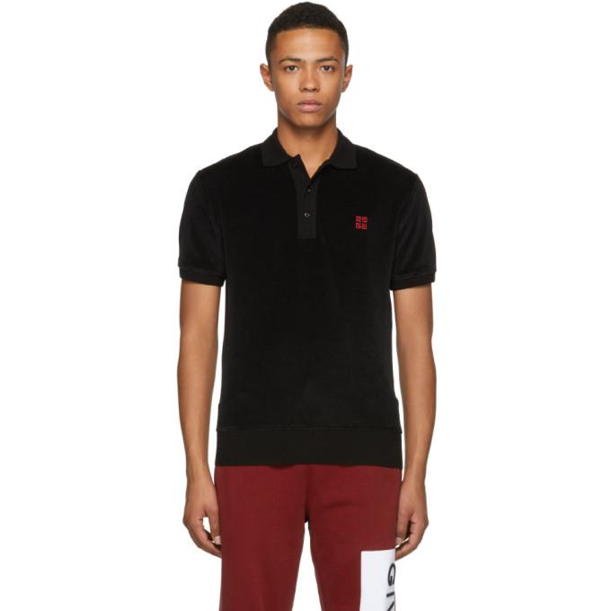 Velvet Polo in Black