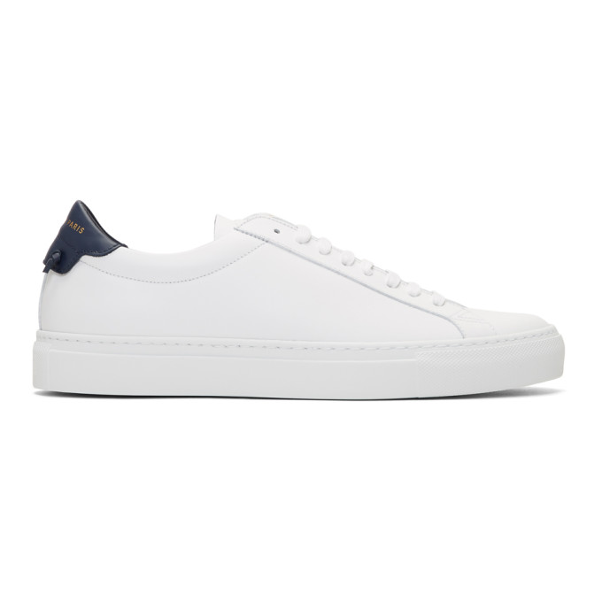 GIVENCHY White & Navy Urban Knots Sneakers