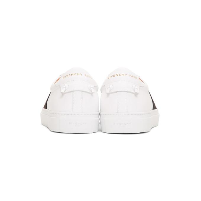 Givenchy Men'S Urban Street Elastic Slip-On Sneakers, White/Black