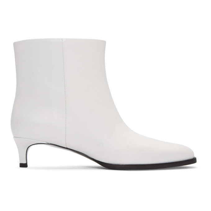 3.1 PHILLIP LIM WHITE AGATHA ANKLE BOOTS
