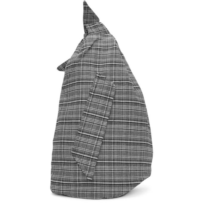 Black & White Eastpak Edition Plaid Sling Backpack from SSENSE