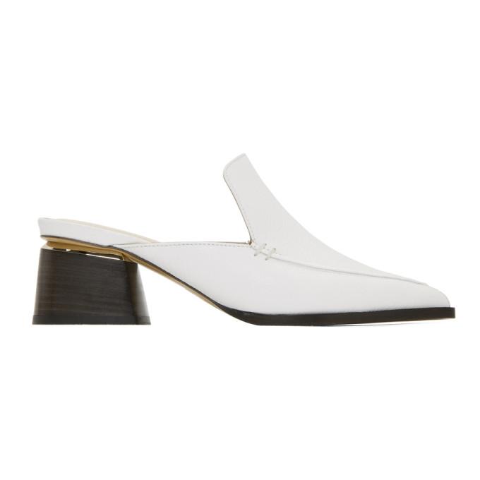 NICHOLAS KIRKWOOD White Leather Beya Mules