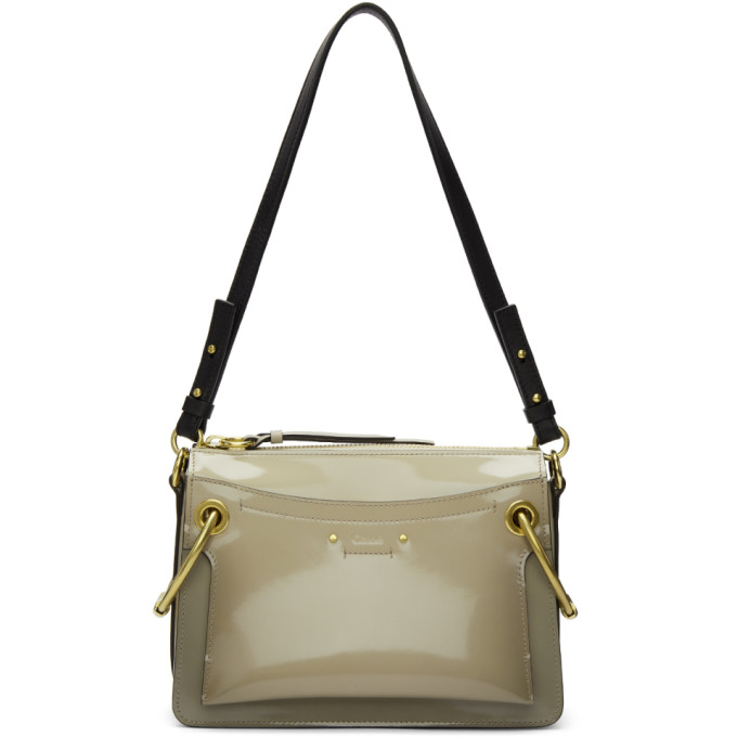 ChloÉ Small Roy Patent Leather Shoulder Bag In 089pastelgr