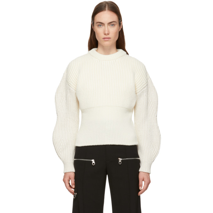 White Chunky Wool Sweater by ChloÉ