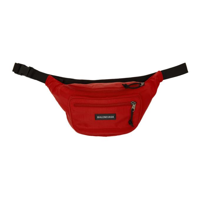 7086a02ec2 Shoptagr | Red Nylon Explorer Belt Pouch by Balenciaga
